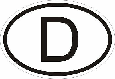 D GERMANY COUNTRY CODE OVAL STICKER bumper decal car
