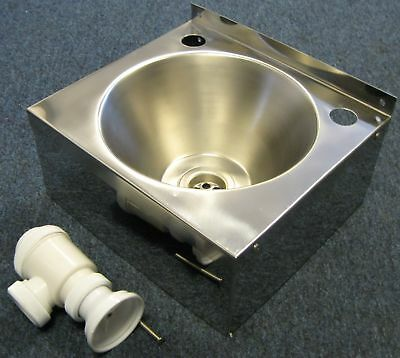 NEW Stainless Steel HAND WASH SINK BASIN & waste trap