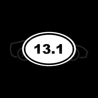 13.1 Marathon Sticker Oval Sticker Window Decal Vinyl