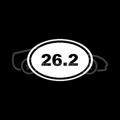 26.2 Marathon Sticker Oval Sticker Window Decal Vinyl Run Running 13.1 Track Fun
