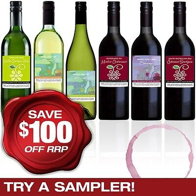 Cleanskin Sampler Mixed Six, Red & White Wine 6-Pack