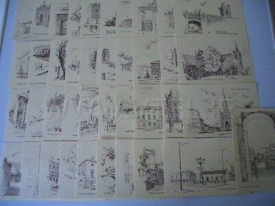 Gladys Leach Set of 40 Dublin Ireland Postcard  Scenes