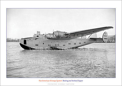 Pan American Boeing 314 Yankee Clipper A3 Poster Print Picture Photo Image