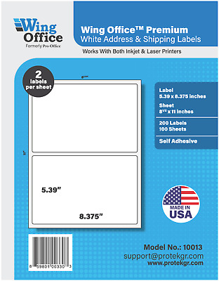 PO13 700 Sheets/1400 Label Pro Office Round Corner Self-Adhesive shipping Label