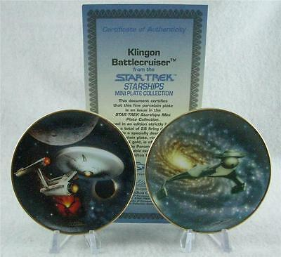 Star Trek Starship Klingon Battlecruiser Uss Enterprise Mini Plates A-19