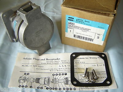 Crouse Hinds AR351 Receptacle 5W5P Pin&Sleeve 30A NEW