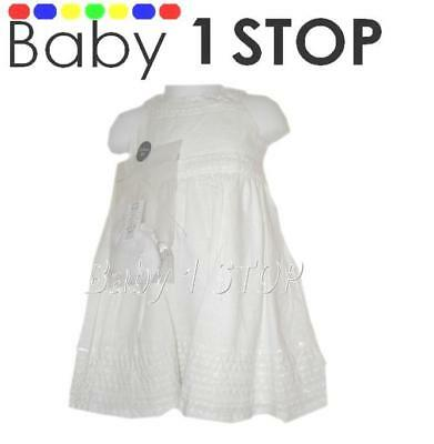 Baby White Cotton Dress & Socks Set 18-24 Months New