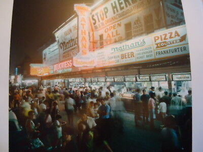 1966 Nathan's Famous Coney Island Brooklyn NYC Photo