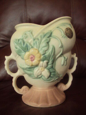 "Vintage Original Hull Wildflower Vase 6 1/2"" W/org.sticker! Beautiful L@@k!"