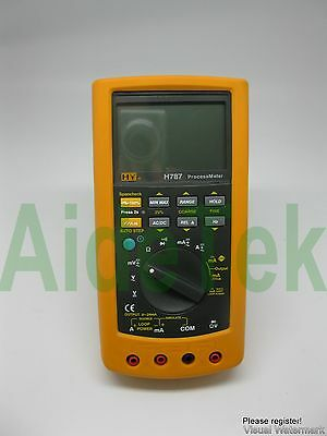 Process Meter loop calibrator compared w/ FLUKE F787 TR