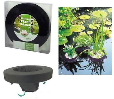 Velda Floating Pond Plant Island Round 25cm Diameter Garden Fish Pond