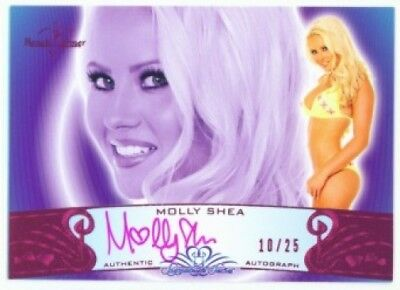 """Molly Shea """"pink Autograph /25"""" Benchwarmer Signature"""
