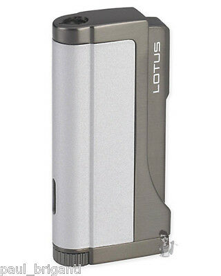 Lotus L4510 Double Play Dual Torch Lighter Silver
