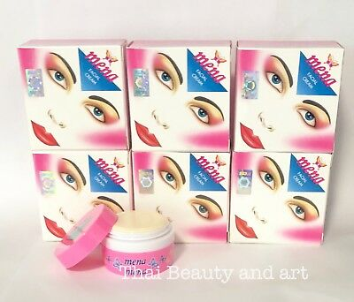 6 X Mena Cream Skin Whitening Acne Dark Spots Blemishes Thai Facial Cream 3g.