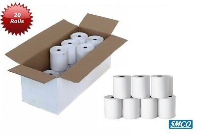 20 ROLLS CASIO 120CR Paper Rolls CASH REGISTER RECEIPT Non Thermal TILL By SMCO