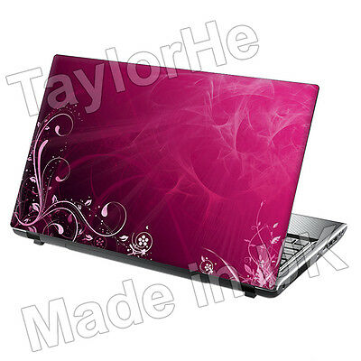 "15.6"" Laptop Skin Cover Sticker Decal Pink floral 106"