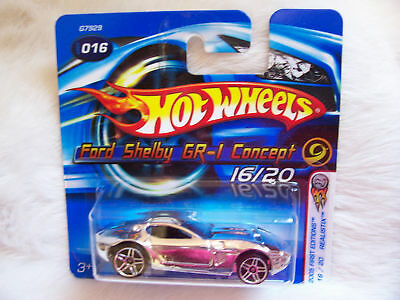 2005 Hot Wheels First Editions Ford Shelby Gr-1 Concept