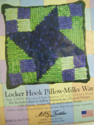 Locker Hook Pillow Kit Hooking Select Pattern