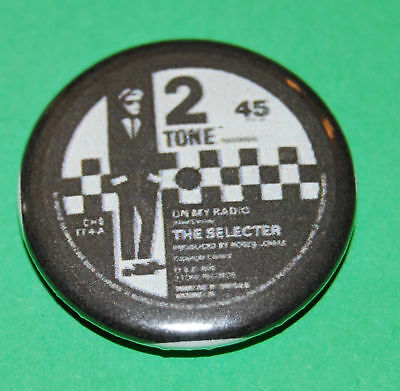 Two Tone record label the selector    Button Badge 25mm - Madness - The Specials