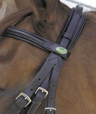 Rhinegold leather comfort double bridle padded all sizes, black, havana,