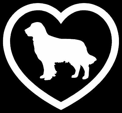 Golden Retriever HEART #013 Vinyl decal sticker Graphic Die Cut CAR Truck 6/""