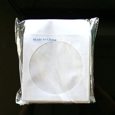 200 Paper Sleeve FLAP CLEAR WINDOW for CD DVD (80G)