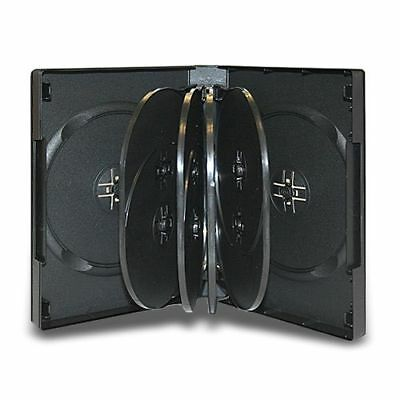 1 Multi 10 Disc DVD Cases CD Storage Black Holds Ten