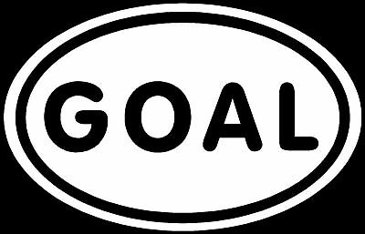 GOAL Sticker Soccer Player Kick Win Victory Funny Decal