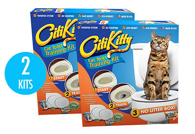 2 Pack - CITIKITTY CAT TOILET TRAINING KIT - Save $$$$