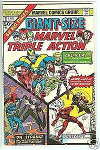 Giant Size Marvel Tripple Action # 1, May 1975