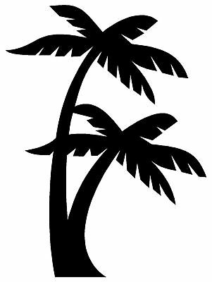 Palm Trees Sticker Beach Ocean Car Window Decal Laptop