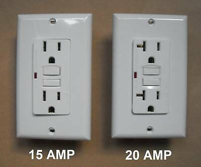 15 20 Amp Gfi Gfci Wall Receptacle Brown Black Gray Almond Ivory White Led Light