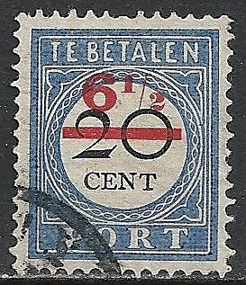 Netherlands 1906 NVPH Due 30fc  CANC  NOT LISTED