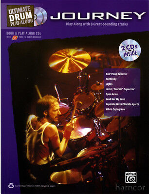 Journey Ultimate Drum Play-Along Music Book +2CDs