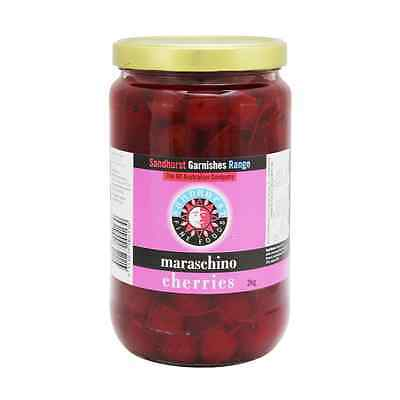Maraschino Italian Cherries With Stem 2Kg - Sandhurst Fine Foods