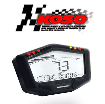 Compteur KOSO DB-02R LCD moto quad scooter Compte-tours