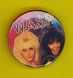 W.A.S.P. WASP 1984 uk badge button pinback ww hh