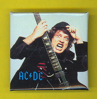 AC/DC ACDC 1990 Canada badge button pinback hh