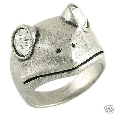 Cute Big Eyes Frog Animal Ring Size 6.5 New #rg287sv6.5