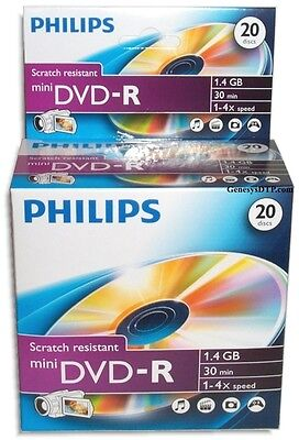 "20pk Philips Mini DVD-R blank DVD 8cm 3"" Disk Free Ship"