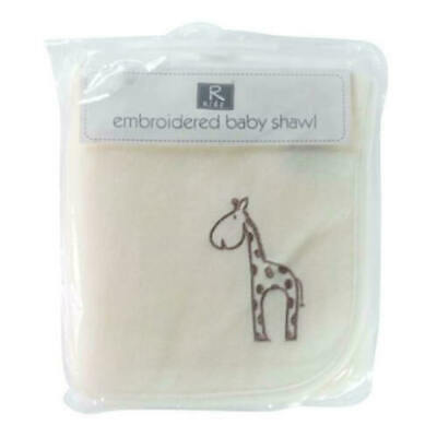 New Elli & Raff Soft Embroided Baby Shawl 94 x 82 cm