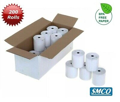 SMCO  57mm 40mm 57 x 40 Thermal Rolls Credit Card ** QTY 200 **