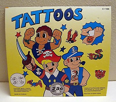 Tattoos 25 Cent Old Gumball Vending Machine Toy Sign