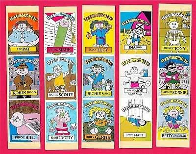 15 Trash Can Tots Vending Stickers -garbage pail kids A