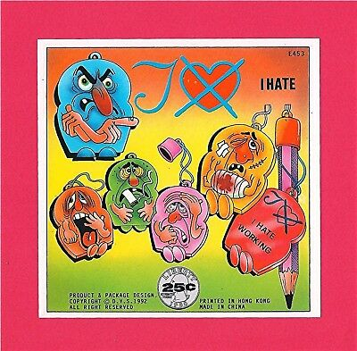 I Hate Pencil Toppers Gumball Vending Machine Toy Sign