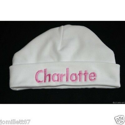 Personalised Baby Girls Hat, Embroidered with any name!