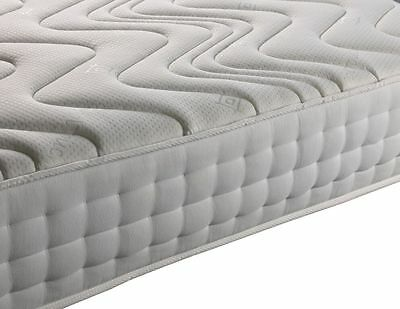 Luxury Pocket Sprung Memory Foam Mattress 25cm Deep Double King Super King Size