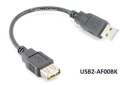 6 inch USB 2.0 A Male to Female Extension Cable / Cord
