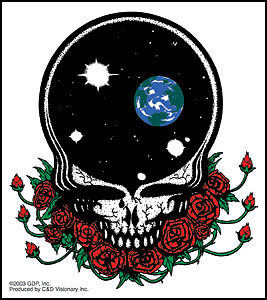THE GRATEFUL DEAD Steal Your Face Clear STICKER Decal