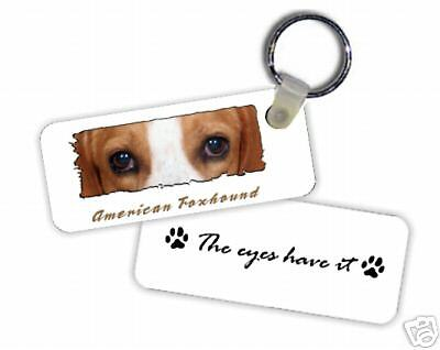 """American   Foxhound   """" The Eyes Have It  """"  Key  Chain"""